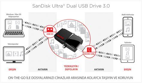 Sddd2 016 G46 sandisk dual drive 16gb usb 3 0 usb bellek sddd2 016g g46