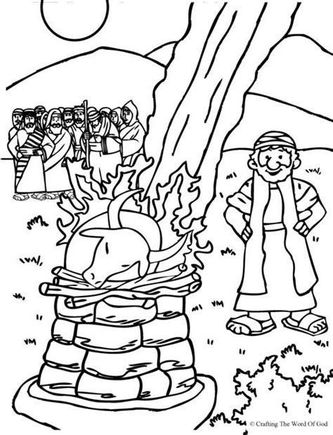 free bible coloring pages elijah elijah and the prophets of baal coloring page from