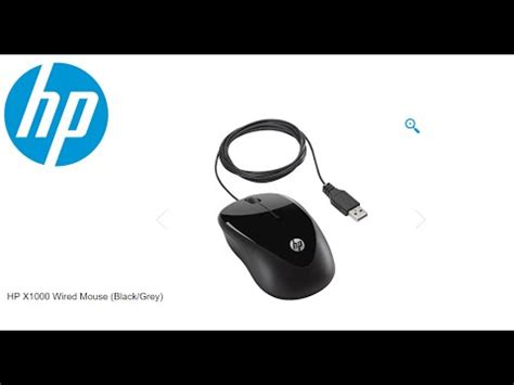Hp X1000 Wired Mouse Hitam hp x1000 wired mouse black grey unboxing
