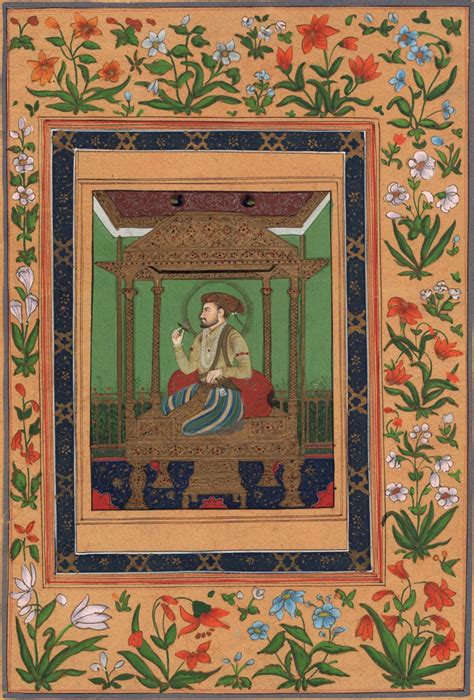 Handmade Painting - mughal miniature painting handmade shah jahan peacock