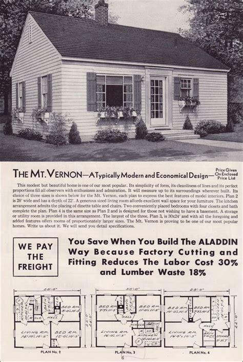 small retro house plans 1951 aladdin kit houses the mt vernon vintage house