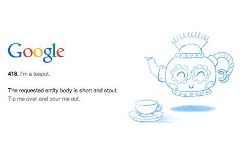 Google & Server Status Code HTTP 418   I'm A Teapot
