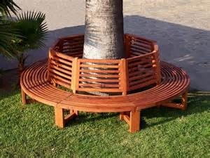 circular bench around tree object moved