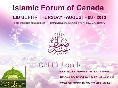 eid ul fitr islamic forum  canada