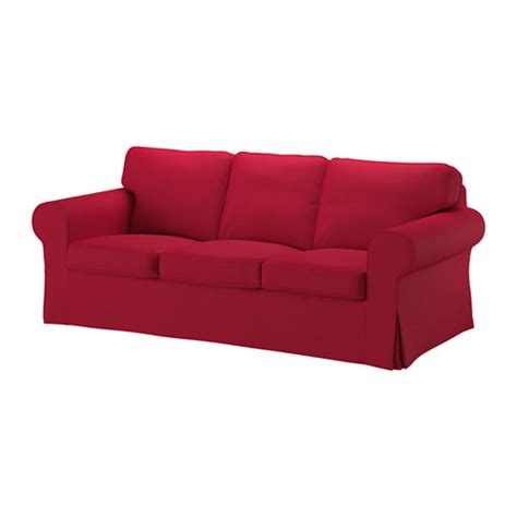 red ikea couch ektorp sofa nordvalla red ikea