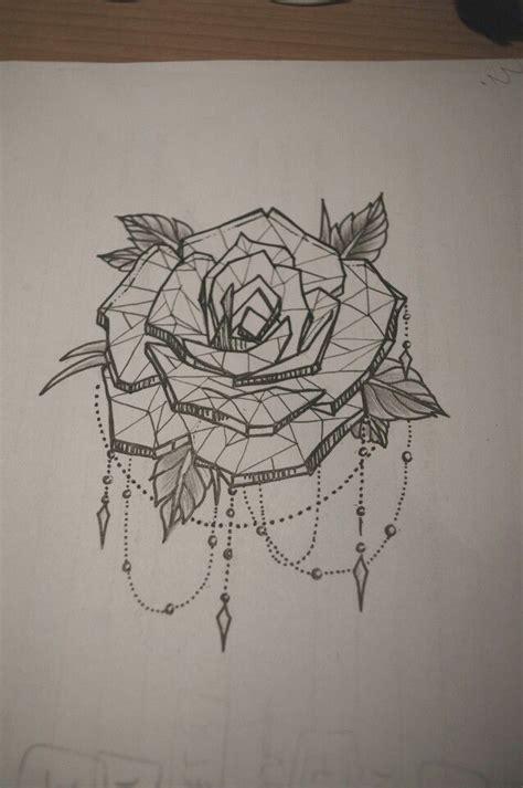 tattoo geometric rose tattoo geometric rose watercolor tattoos pinterest