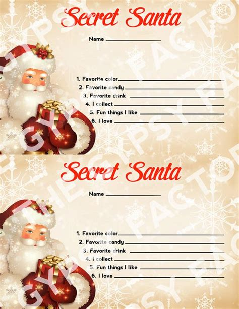 secret gift exchange ideas secret santa questionnaire invitation form gift