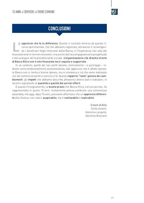 Banca Etica Pescara by 2014 Sroi Banca Etica