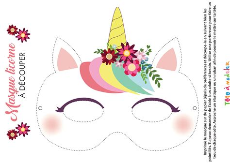 Masque De Licorne 224 Imprimer Coloriage Licorne Kawaii Dessin A Imprimer L