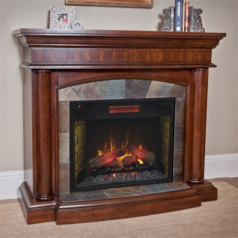 Infrared Electric Fireplace Aspen Infrared Electric Fireplace Mantel Package In Meridian Cherry 28wm1751 C248