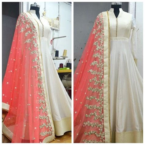 simple full froks design simple anarkali frocks collection paired with embroidered