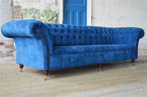 Teal Chesterfield Sofa Handmade Bespoke 4 Seater Teal Velvet Chesterfield Sofa Modern Sofas Manchester By Abode