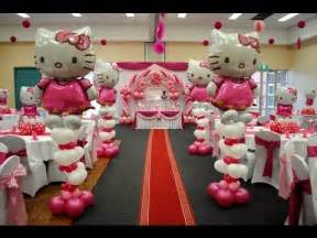 theme decoration hello kitty theme decorations specialized for balloon birthday decorations youtube