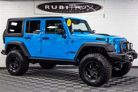 jeep wrangler chief for sale 2017 jeep wrangler rubicon unlimited chief blue