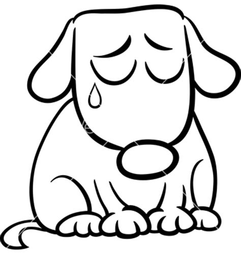 Clip Art Sad Face Puppy Clipart Clipart Suggest Sad Coloring Page