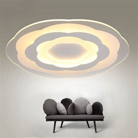 white minimalism ultrathin modern led ceiling light for