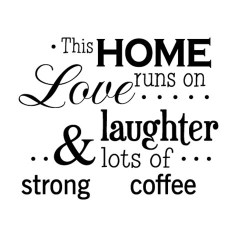 Wall Stickers Football home runs on coffee classic wall quotes decal