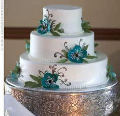 blue flower wedding cake by the pastry garden in