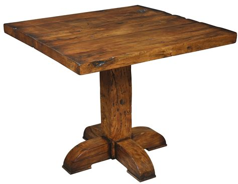 Rustic Bar Table 42 Quot Square Pub Table Solid Fruit Wood Rustic Bar Style Distressed Heavy Ebay