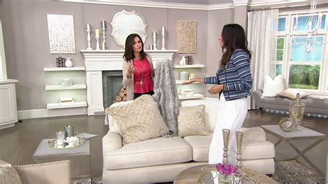 qvc home decor inspire me home decor charlton faux fur s 2 24 quot pillows