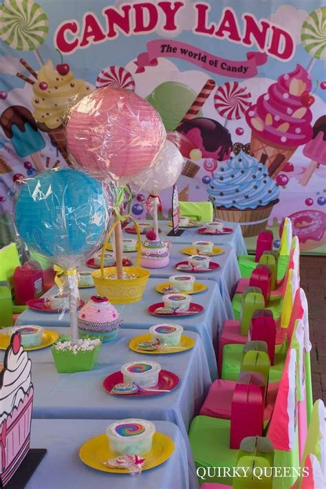 candyland theme decorations best 25 land birthday ideas on