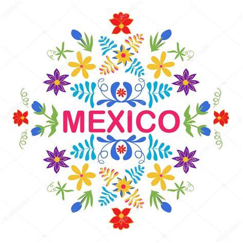 imagenes de flores mexicanas flores de m 233 xico el patr 243 n y elementos tradicional