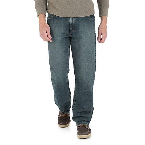 wrangler comfort fit jeans mens wrangler 174 advanced comfort relaxed fit jean mens jeans