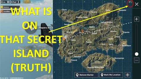 pubg secret island reality erangel map youtube
