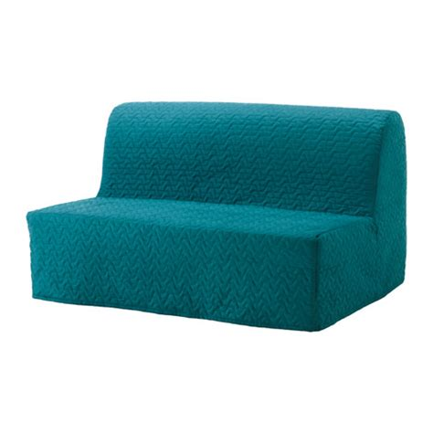 turquoise futon cover lycksele two seat sofa bed cover vallarum turquoise ikea