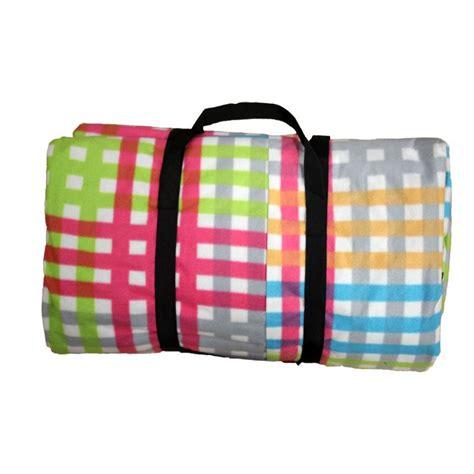 jumbo family sized picnic rug jumbo picnic blanket multi colour check buy at qd