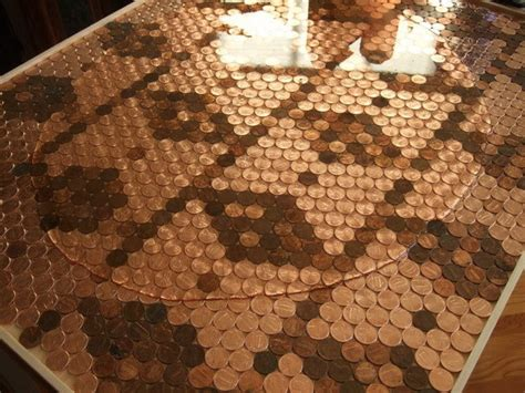 make a penny backsplash for an expensive look creative ideas how to make a unique kitchen backsplash with pennies