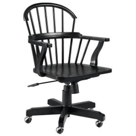 Office Chairs At Home Depot Martha Stewart Larsson Carbon Black Desk Swivel Chair At