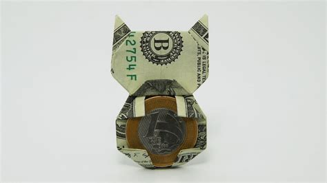 Dollar Origami Cat - origami money cat jo nakashima