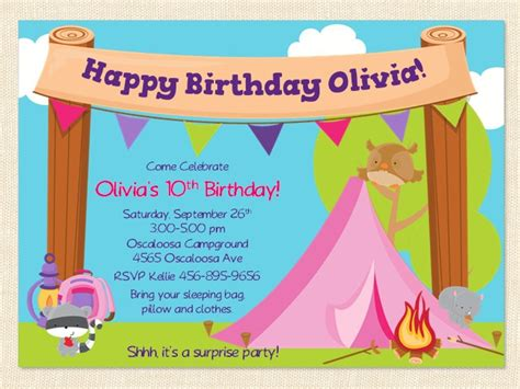 Free Printable Cing Birthday Invitation Template Free Guard Invitation Template