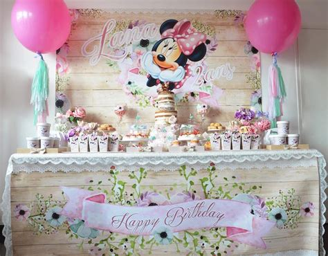 Ribbon Parti Kinds 3th 5th kara s ideas boho chic minnie mouse birthday