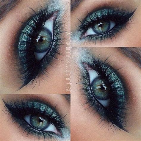 Eyeshadow Wardah Smokey smokey eye makeup green tutorial makeup vidalondon