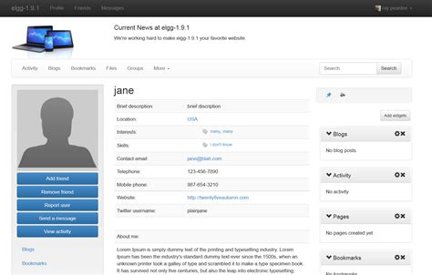 bootstrap themes free profile twitter bootstrap theme the elgg community