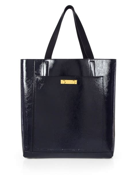 Patent Handheld Shopper Bag At Asos For Kate Moss On A Budget Style by Lyst Marni Patent Shopper Tote In Blue