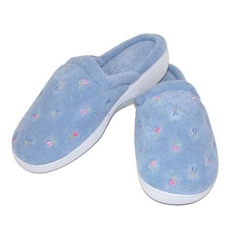 isotoner house shoes womens womens terry scalloped embroidered clog slippers by totes isotoner slippers slippers