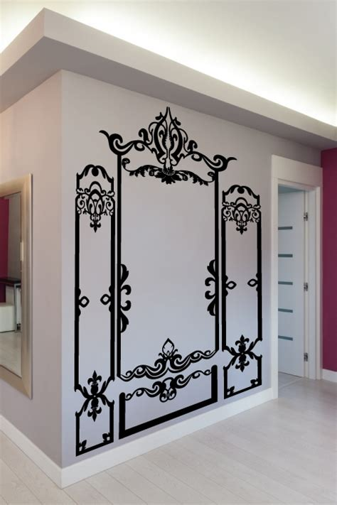 Wall Decor Stickers For Nursery wall decals baroque molding walltat com art without