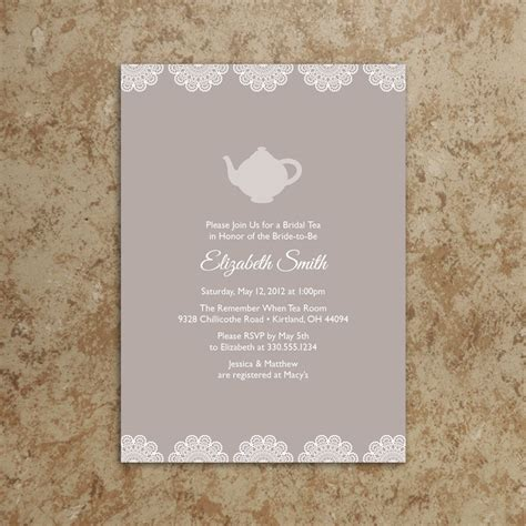Tea Baby Shower Invites by Bridal Shower Tea Invitations Bridal Shower Tea