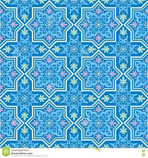 blue islamic pattern arabesque on a blue background vector illustration