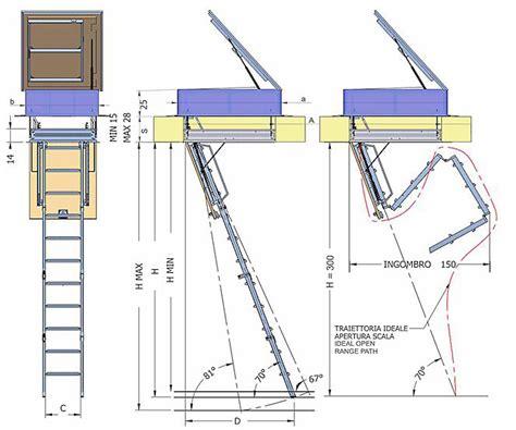 botole per terrazzi scala retrattile a quattro pezzi a terrazzo scala botola