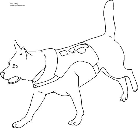 what color will my puppies be search and rescue coloring page