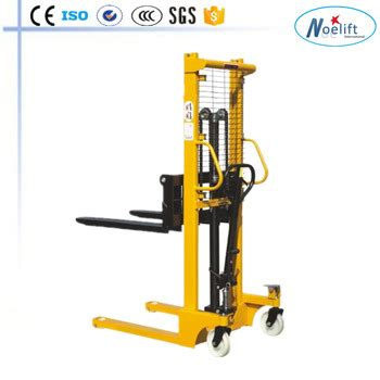 0.5t/1t/1.5t/2t hand pallet stacker price 1.2m 3m manual