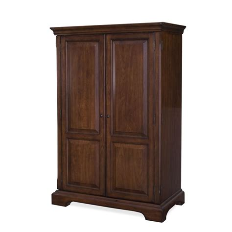 Computer Armoire Cherry Riverside Furniture Cantata Burnished Cherry Computer Armoire Ebay