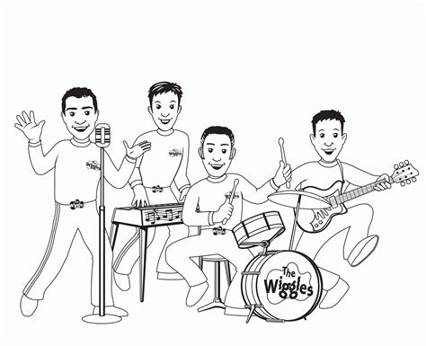 music band coloring pages wiggles color pages coloring home