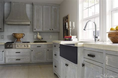 distressed kitchen cabinets cottage kitchen janie