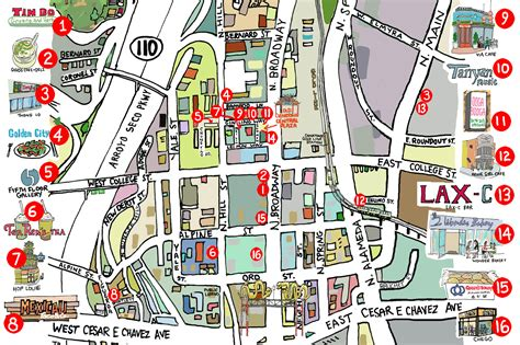chinatowns  attractions  restaurants map