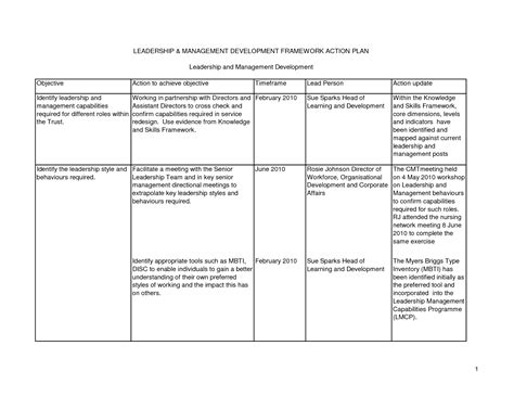 leadership development plan template best photos of individual plan template personal